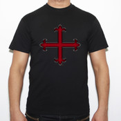 Cruz templaria 10 - Camiseta Fruit of The Loom  Valueweight