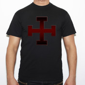 Cruz templaria 11 - Camiseta Fruit of The Loom  Valueweight