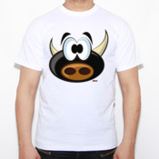 Torito perplejo - Camiseta Fruit of The Loom  Valueweight